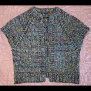 525 America Crocheted Short Sleeve Shrug